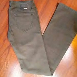 NWOT HURLEY OLIVE GREEN BOOT CUT JEANS-SIZE 25